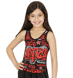 "Child ""Dance"" Graffiti Tank Top - Style No FD1271Cx"