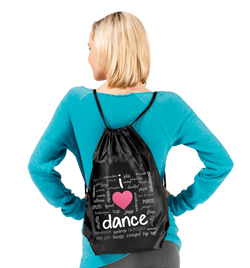 """""""I Love Dance"""" Cinch Backpack - Style No FP001"""