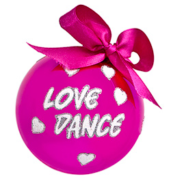 Love Dance Glass Ornament - Style No FP005