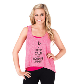 Keep Calm and Rond de Jambe Tank - Style No FP012