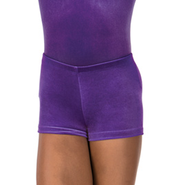 Child Gymnastic Velvet Dance Short - Style No G507C