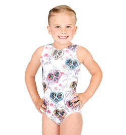 Child Gymnastic Sublimated Tank Leotard - Style No G508C