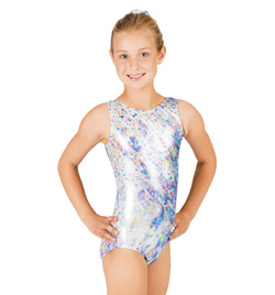 Child Gymnastic Confetti Sublimated Leotard - Style No G511C
