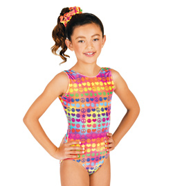 Child Gymnastic Groovy Tank Leotard - Style No G512C