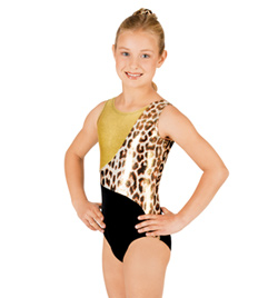 Child Gymnastic Block Tank Leotard - Style No G519C