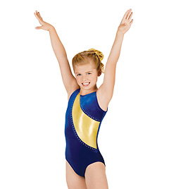 Child Gymnastic Spliced Tank Leotard - Style No G521Cx