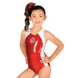Child Gymnastic Peace Leotard - Style No G524C