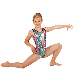 Child Gymnastic Swirl Tank Leotard - Style No G534Cx