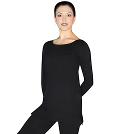 Long Sleeve Silk Tunic Sweater - Style No GM204