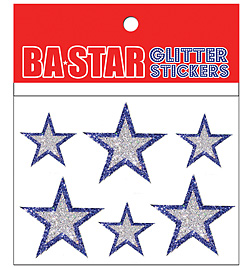 Glitter Star Stickers - Style No GSS