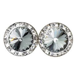 15mm Swarovski Black Diamond Performance Earrings Pierced - Style No JEBDI15P-6P