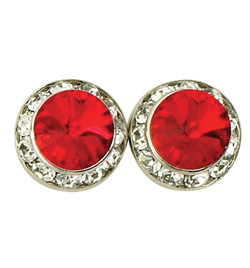 15mm Swarovski Light Siam Performance Earrings Pierced - Style No JELSI15P-6P