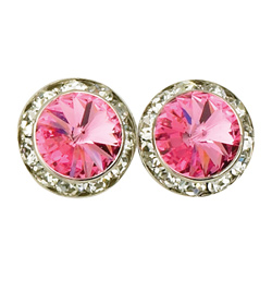 15mm Swarovski Rose Performance Earrings Pierced - Style No JEROS15P-6P
