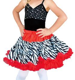 Child Zebra Petticoat Tutu - Style No K5028
