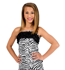 Child Zebra Ruffle Top - Style No K5102