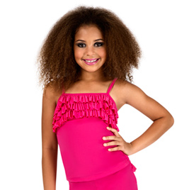 Child Pink Camisole Ruffle Top - Style No K5106
