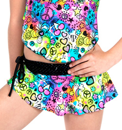 Girls Mock Wrap Skirt with Attached Shorts - Style No K5125