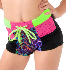 Girls High Waist Print Shorts - Style No K5204