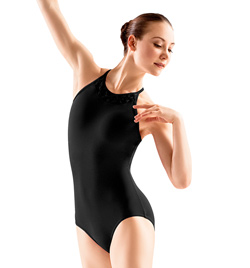 Adult Rouleau Weave High Neck Leotard - Style No L2875
