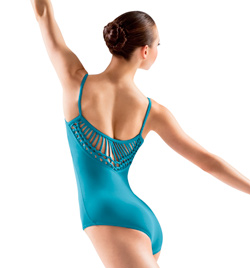 Adult Spliced V Back Camisole Leotard - Style No L3027