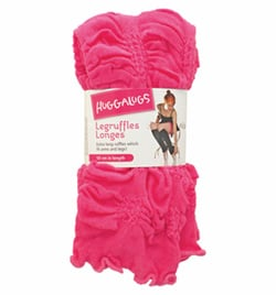 "Bubblegum Pink 19"" Tween/Adult Ruffled Legwarmer - Style No LRUFFLE2"