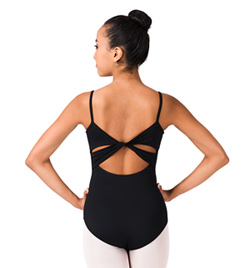 Adult Twist Back Mesh Camisole Leotard - Style No M2016LM