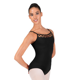 Girls Camisole Lattice Front Leotard - Style No M2060TM