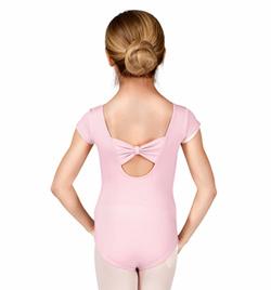 Girls Bow Back Cap Sleeve Leotard - Style No M2154C