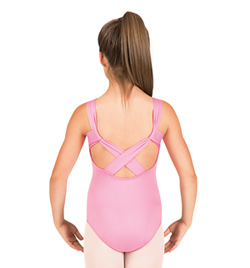 Girls Pinch Front X-Back Tank Leotard - Style No M2664C
