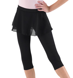 Tween 3/4 Leggings with Skirt Overlay - Style No M6016TM