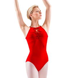 Adult Twist Cord Open Back Leotard - Style No M8016LM