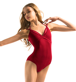 Adult Layered Neckline Double Strap Camisole Leotard - Style No MJ7144