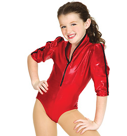 Child Gaga 3/4 Sleeve Leotard - Style No N7033C