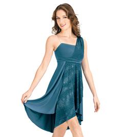 Adult Sparkling Asymmetrical Lyrical Dress - Style No N7047