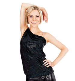 Adult Asymmetrical Sequin Dot Tank Top - Style No N7081