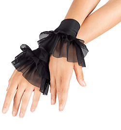 Adult Mesh Ruffle Cuffs - Style No N7115