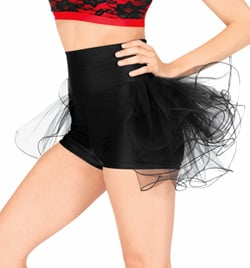 Adult High Waist Bustle Dance Short - Style No N7125