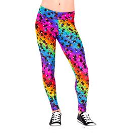 Girls Pink Lightning Bolt Legging - Style No N7133C