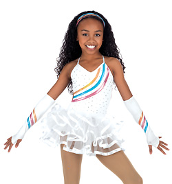 Child Open Back Skirted Leotard - Style No N7203C