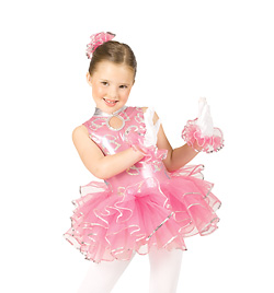 Child Keyhole Tank Leotard w/Ruffle Skirt - Style No N7206Cx