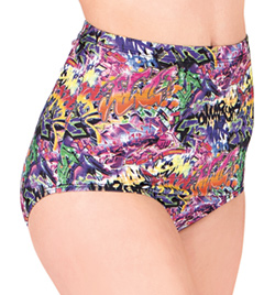 Printed High Waist Brief - Style No N7217