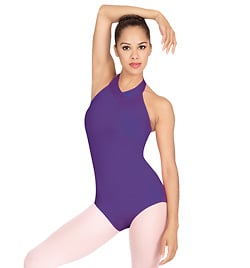 Jeweled Neck Halter Leotard - Style No N8074L