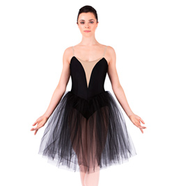 Classical Tutu Dress With Nude Insert - Style No N8438