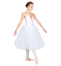 Child Classical Tutu Dress With Nude Insert - Style No N8438C