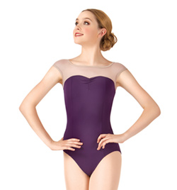 Cap Sleeve Leotard Mesh Yoke - Style No N8601