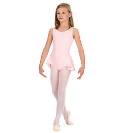Child Tank Leotard With Attached Half Skirt - Style No N8605Cx
