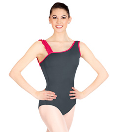 One Shoulder Ruffle Tank Leotard - Style No N8652x