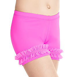 Child Powermesh Ruffle Short - Style No N8675C