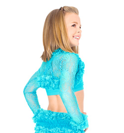 Child Lace Ruffle Shrug - Style No N8683C