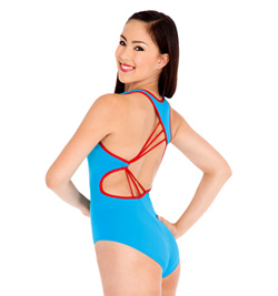Natalie Adult Asymmetrical Cut Out Tank Leotard